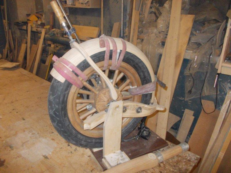 процесс создания деревянного байка